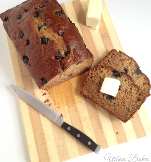 Moist Blueberry Banana Sour Cream Bread | URBAN BAKES