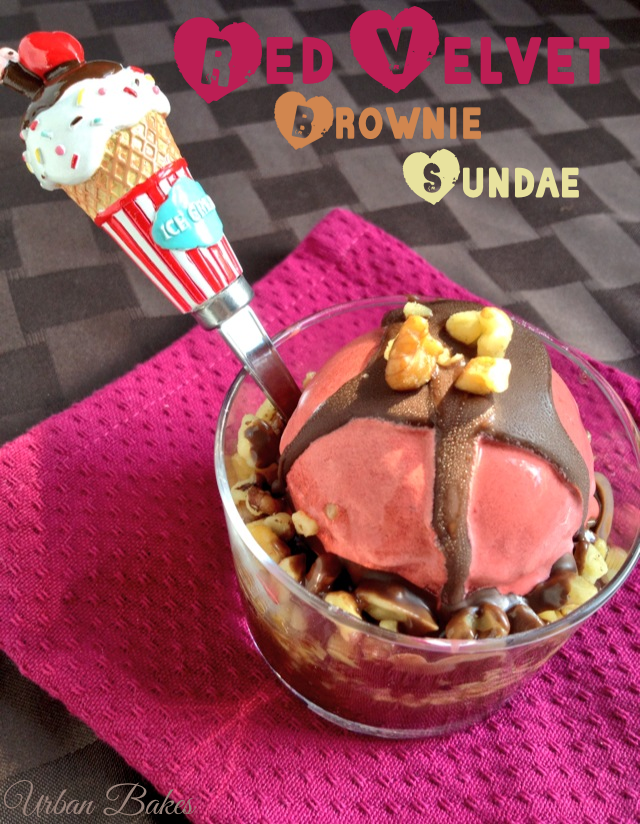 Flirty Red Velvet Ice Cream Brownie Sundae | URBAN BAKES